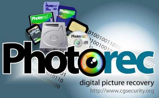 phần mềm PhotoRec
