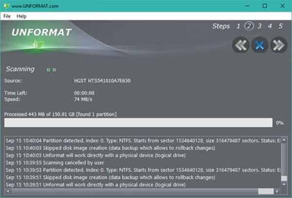 phần mềm khôi phục dữ liệu unformat
